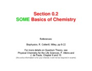 Lecture 02 Chemistry Some Basics Fall 2009