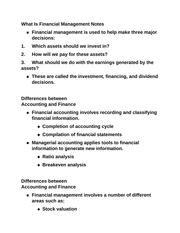 What Is Financial Management Notes