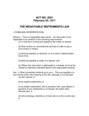 24. Negotiable Instrument Law (RA 2031).pdf