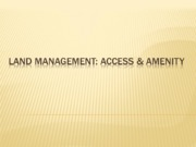 PPt 8 Land Management