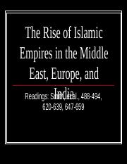 The Rise of Islamic Empires Revised.pptx