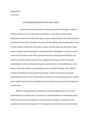 Is Fracking Causing more harm than good essay