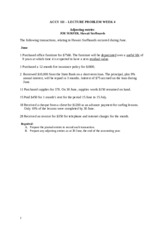 ACCY 111 Week 4 lecture problem solution