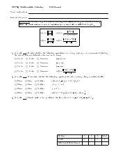 OldExam1 pdf - M273Q Multivariable Calculus Old Exam 1 Name and