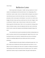 2 pages wra 150 reflective letter for essay number 3