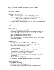 American Political Thought- Study guide- Death of Freedom
