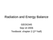 5 Radiation and Energy Balance