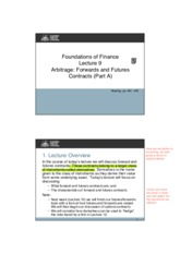 Lecture 9 (Futures and Forwards [A]) - FINM7006