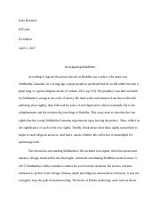 int investigating buddhism essay running head investigating 5 pages buddhism essay recovered docx