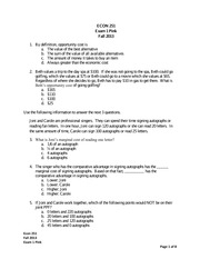 Exam 1 Pink Econ 251 Fall 2013