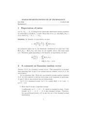Expectation of ratios, Gaussian random vector, Bayesian rule and conjugate distributions notes