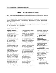 Exam 2 Study Guide - Saunders Fall 13