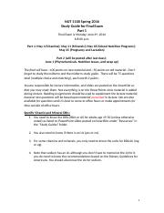 NUT111B - Final Exam Study Guide Part 1.docx