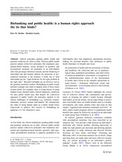 Meslin_Hum Genet2011_ Biobanking and public health- is a human rights approach the tie that binds