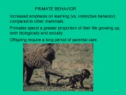 Primate BehaviorA2009