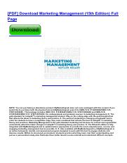 Marketing Management 13th Edition Pdf