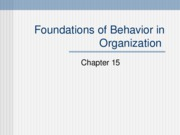 Foundations of Behavior in Organization