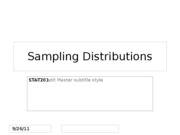 STAT201 Sampling Dist