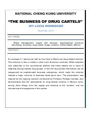 The Business of Drug Cartels Abstractpdf