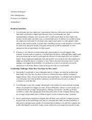 Sales Mgmt- Assignment #7