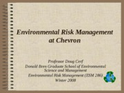 Chevron Environmental Risk Management