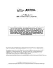 1982 ap physics b free response scoring guidelines