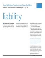 Legal liability and partners - ok