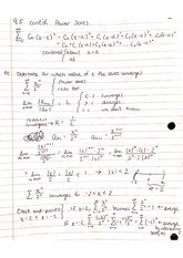 Chapter 9 Sequences and Series