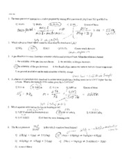 CHEM 112 Prac Exam 1 Workout