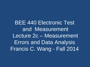 Lecture 2c Measurement Error
