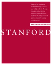 Stanford Application Instructions