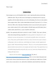 Texting & Driving Drivers Ed Essay.docx