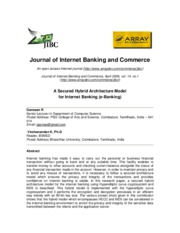 A Secured Hybrid Architecture Model ofr Internet Banking