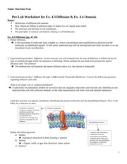 Pre-lab Worksheet for diffusion and osmosis