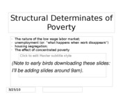 Structural Determinates of Poverty (2)