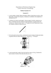 Tutorial Sheet 8 Solution