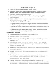 Study Guide for Quiz