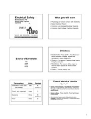 Electrical Safety (Student Work)