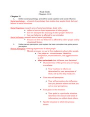 PSY 270 11,13,14 Study Guide