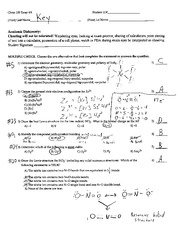 Exam 4A Solutions and Answers