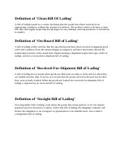 Definition of bill of lading.docx