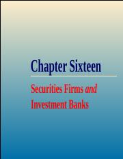 FM&I Ch16 Security Firms and Investment Banks