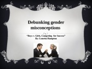 AED week4 DeBunking gender misconceptions