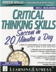 LearningExpress-Organization-Critical-thinking-skills-success-in-20-minutes-a-day.pdf