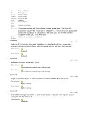 BUS 475 Week 3 Quiz 3 - Ch. 4 and 5