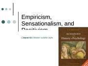 Chapter5EmpiricismSensationalismandPositivism
