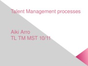 Talent Management processes