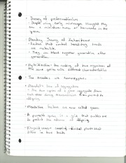 BIO 334 Theory of Preformationism Notes