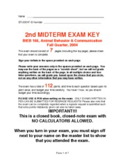 2004 2nd exam key
