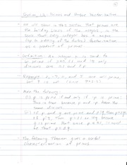 Lecture 2 on Primes, Fundamental Theorem of Arithmetic
